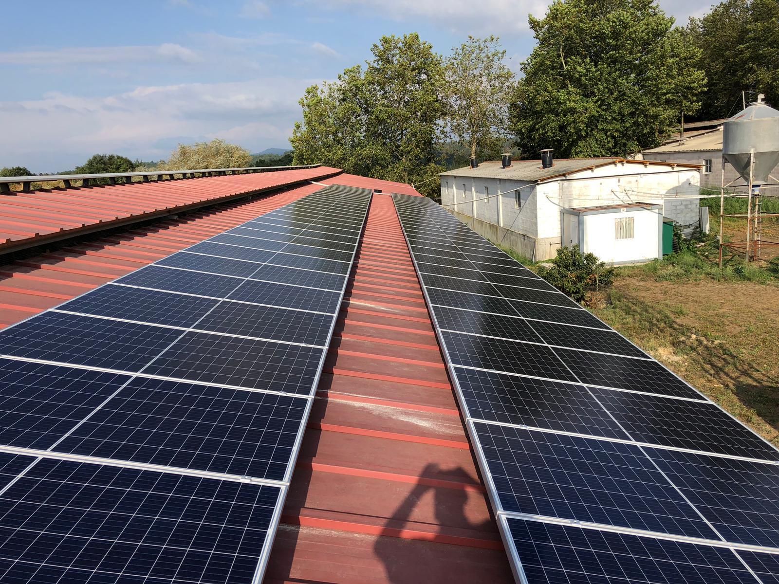 instalación fotovoltaica granja