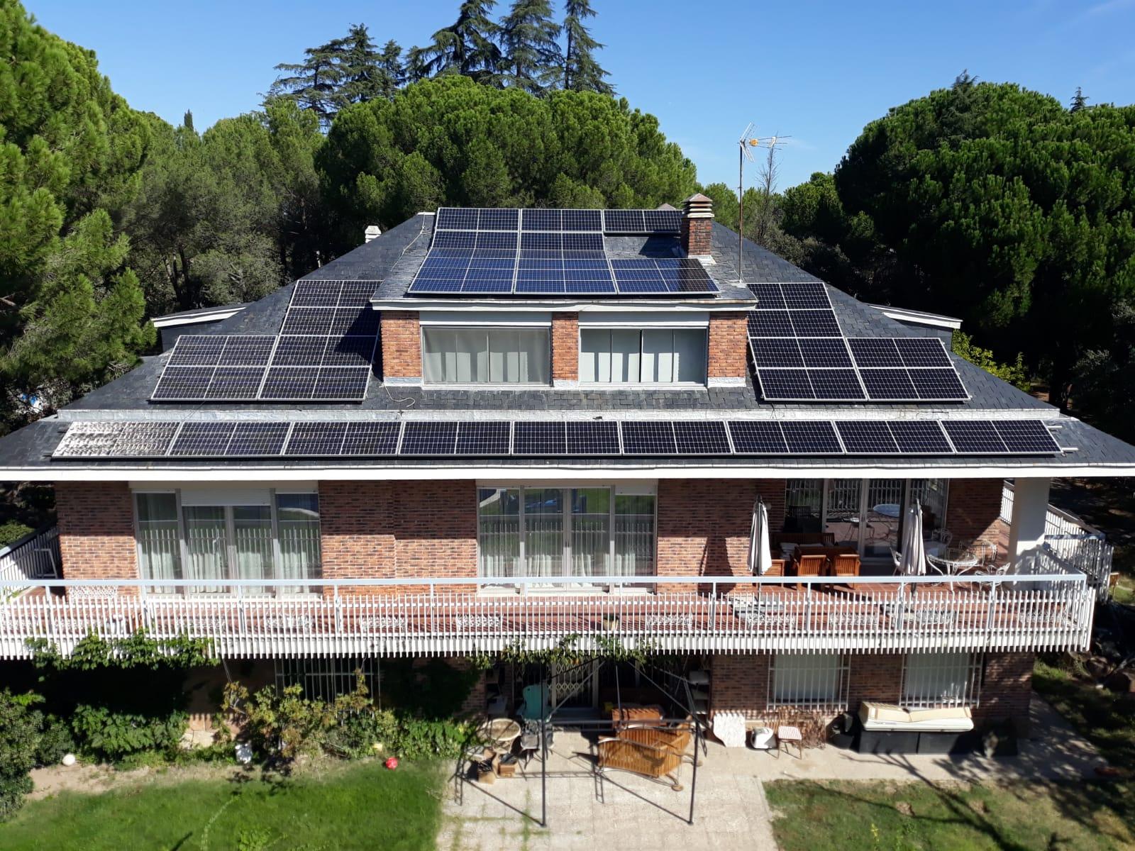 Fotovoltaica en vivienda unifamiliar en Casaquemada